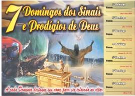 CAMPANHA PACOTE COM 50 UNIDADES 7 DOMINGOS DOS SINAIS E PRODÍGIOS DE DEUS