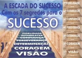CAMPANHA PACOTE COM 50 UNIDADES A ESCADA DO SUCESSO COM OS 7 SEGREDOS PARA O SUCESSO