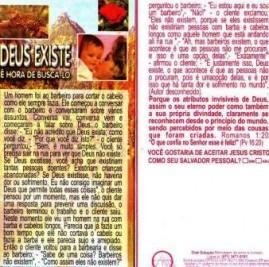FOLHETOS PACOTE COM 100 UNIDADES / DEUS EXISTE