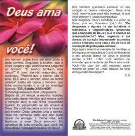 FOLHETOS PACOTE COM 100 UNIDADES / DEUS AMA VOCÊ!