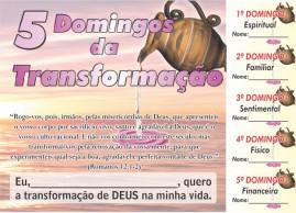 CAMPANHA PACOTE COM 50 UNIDADES 5 DOMINGOS DA TRANSFORMAÇÃO