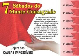 CAMPANHA PACOTE COM 50 UNIDADES 7 SÁBADOS DO MANTO CONSAGRADO