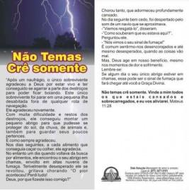 FOLHETOS PACOTE COM 100 UNIDADES / NÃO TEMAS  CRÊ SOMENTE