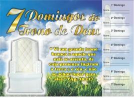 CAMPANHA PACOTE COM 50 UNIDADES 7 DOMINGOS DO TRONO DE DEUS