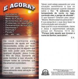 FOLHETOS PACOTE COM 100 UNIDADES / É AGORA?