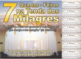 CAMPANHA PACOTE COM 50 UNIDADES 7 QUARTAS- FEIRAS NA TENDA DOS MILAGRES