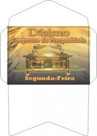 ENVELOPE 50 UNIDADES DIZIMO CONGRESSO DA PROSPERIDADE