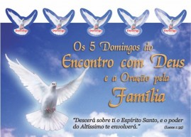 CAMPANHA PACOTE COM 50 UNIDADES OS 5 DOMINGOS DO ENCONTRO COM DEUS E A ORAÇÃO PELA FAMILIA