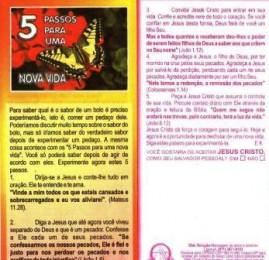 FOLHETOS PACOTE COM 100 UNIDADES / 5 PASSOS PARA UMA NOVA VIDA