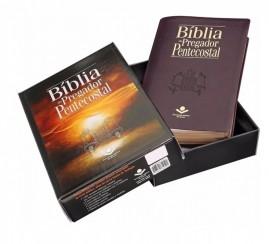 Bíblia Do Pregador Pentecostal - Luxo - (vinho Nobre)