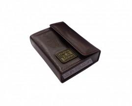 caixa de promessa couro luxo bordo