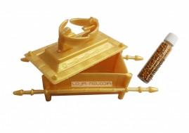Arca Da Aliança Cristã Dourada + Grão De Mostarda