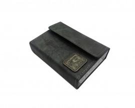 caixa de promessa couro luxo cinza