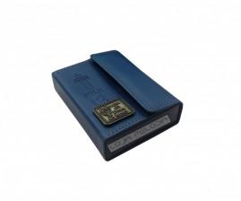 caixa de promessa couro luxo azul