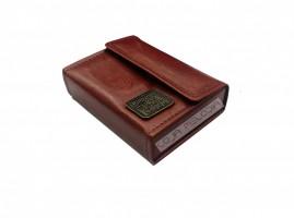 caixa de promessa couro luxo caramelo