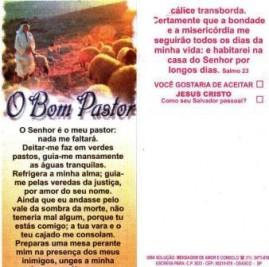 FOLHETOS PACOTE COM 100 UNIDADES / O BOM PASTOR