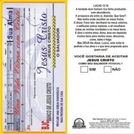 FOLHETOS PACOTE COM 100 UNIDADES / SUA ALMA