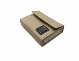 caixa de promessa couro luxo creme
