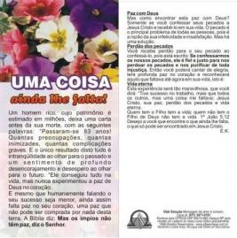 FOLHETOS PACOTE COM 100 UNIDADES / UMA COISA AINDA LHE FALTA
