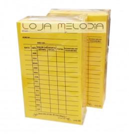 Envelope Anual De Dizimo Amarelo pacote com  100 Unidades Cod 40