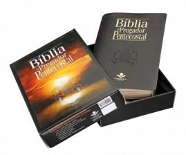 Bíblia Do Pregador Pentecostal - Luxo - (PRETO  Nobre)