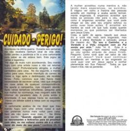 FOLHETOS PACOTE COM 100 UNIDADES / CUIDADO-PERIGO!