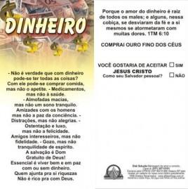 FOLHETOS PACOTE COM 100 UNIDADES / DINHEIRO