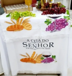 Kit Toalha 2 Metros Para Santa Ceia 4 Peças Promoção /cod 02