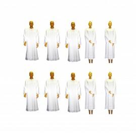 Kit Com 10 Beca, Capa, Bata Para Batismo Em Oxford EXCELENTE ACABAMENTO